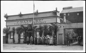 J Mandl and Company brewery, Hokitika, West Coast, and employees