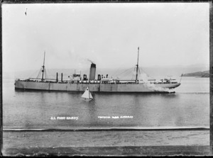 The ship Nerehana, later known as Port Hardy, in Wellington Harbour - Photograph taken by David James Aldersley