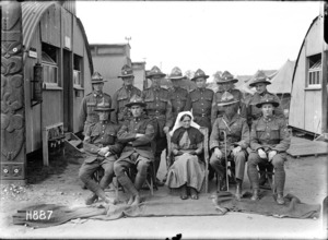 The NCOs and the matron of the New Zealand Stationary Hospital, Wisques, France