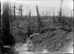 Taking water to the front line in World War I, Rossignol Wood, France