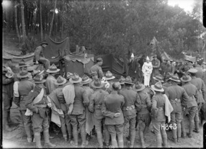 World War I soldiers play Splasho at their camp in Etaples, France