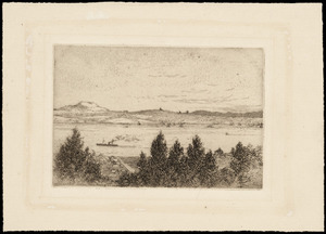 Payton, Edward William 1859-1944 :Auckland from North Shore. [ca 1885-1890]