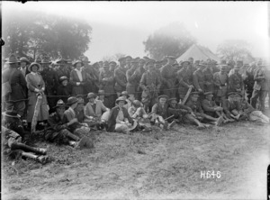 Canadian nurses attend the New Zealand Infantry Brigade horse show, France