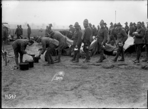 Meal time for New Zealand troops, Louvencourt