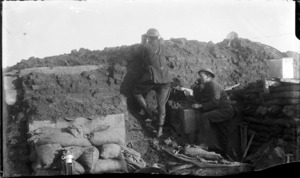 An observation post on Westhoek Ridge, World War I