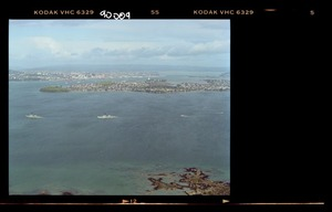 Royal Australian Navy ships with the naval flotilla entering off Devonport, North Shore, Auckland