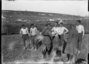 German prisoners medically examined in Puisieux, World War I