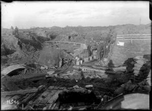 A New Zealand Brigade Headquarters at Hooge Crater, World War I