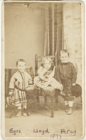 Portrait of Percy, Eyre, and Lloyd Evans