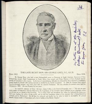 Newspaper obituary for Sir George Grey