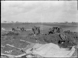 New Zealand battery in action on the Somme