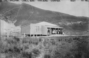 House and store owned by James Adam Capper and Mary Anne Capper, Lyall Bay, Wellington
