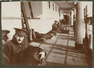 Sick officers on board HMHS Salta