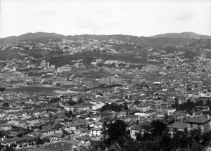 Part 2 of a 4 part panorama overlooking Wellington City