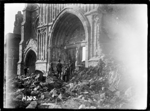 The ruins of Ypres Cathedral