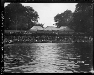 View of the lawn at Walton-on-Thames Hospital, World War I
