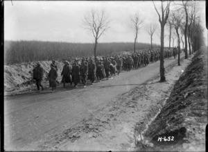 German prisoners captured by New Zealand soldiers, France