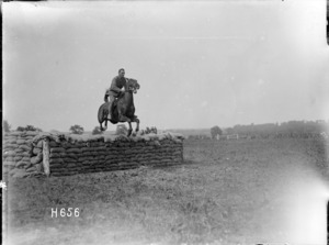 A successful jump at the New Zealand Divisional horse show, Courcelles
