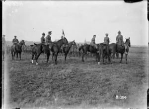The Prince of Wales at a review of New Zealand troops in Beauvois, World War I