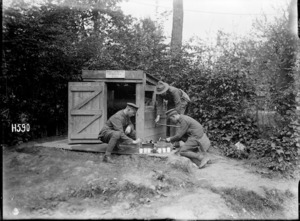 Testing water supply samples in France during World War I