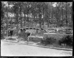 Dug-outs in Ploegsteert Wood