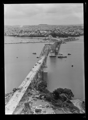 Auckland Harbour Bridge, Waitemata Harbour and Northcote, North Shore City