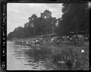 The river bank at Walton-on-Thames Hospital, World War I