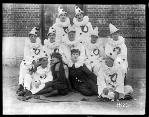 Group portrait of the 'Digger Pierrots'