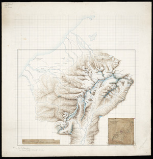 Sharbau, H (Henry), fl 1860-1904 :[The central portion of the Southern Alps of New Zealand compiled from the Government Survey with additions by A P Harper, and others] [ms map]. [1892]