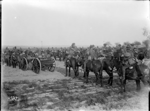 Artillery transport awaiting inspection, Bus-les-Artois