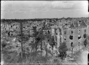 View of Bapaume from the Citadel, World War I