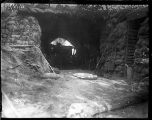 New Zealand Howitzer Battery - the gun pit
