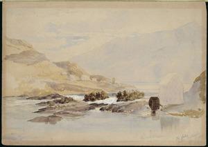 Barraud, Charles Decimus, 1822-1897 :The Falls, Lake Wakatipu. April 1871.