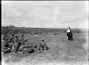 A New Zealand Brigade church service in France, World War I