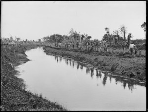 Widening (Awanui?) river for the Kaitaia swamp drainage scheme