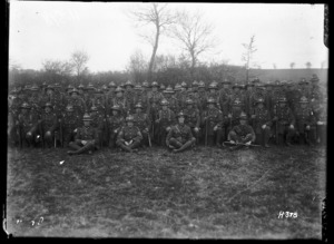 Soldiers of Hawkes Bay Company, the Wellington Regiment in France