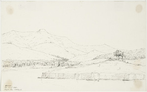 [Mantell, Walter Baldock Durrant] 1820-1895 :Pigeon Bay looking south. 25 August 1848