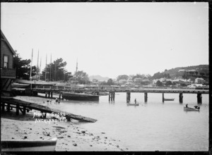 Devonport, Auckland, with Duders Wharf