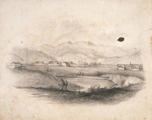 Wade, William Richard 1802-1891 :Mission settlement - Puriri in May 1836. From the W.N.W. / W.R.W. 1837.