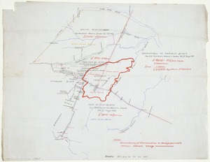 [Creator unknown] :[Sketch map of Maori land claims in the Waipukurau area] [ms map]. [ca.1870]