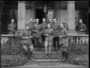 The Prince of Wales with Brigadier General Hart and New Zealand Rifle Brigade staff, Germany