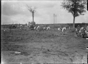 The Scots Greys advancing near Bapaume in World War I