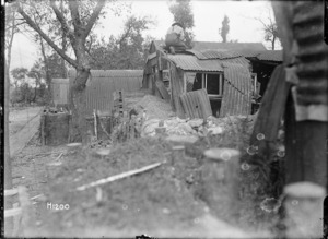 New Zealand army engineers repair huts in France, World War I