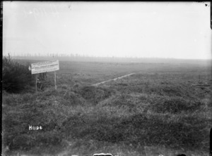 Historical landscape of Gommecourt destroyed during World War I
