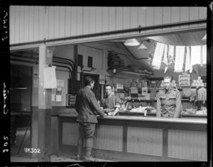 The canteen at the New Zealand Artillery camp, Ewshot