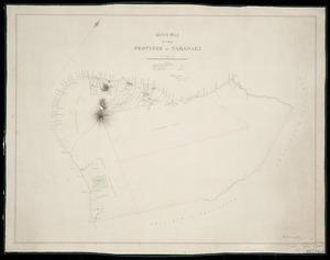 Humphries, Thomas, 1841-1928 :Sketch map of the Province of Taranaki [ms map]. Octo. Carrington, Surveyor. 1869.