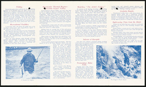 New Zealand Railways. Publicity Branch :[Wonderful Wairakei]. Fishing, recreational facilities, sepctacular thermal region ... [December 1940]