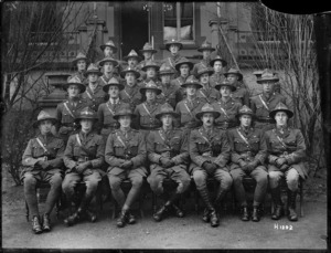 Officers of the Canterbury Regiment in Mulheim, Germany, 1919