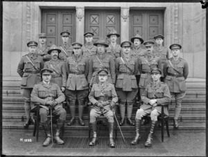 Major General Russell and staff officers at Divisional Headquarters, Leverkusen, Germany