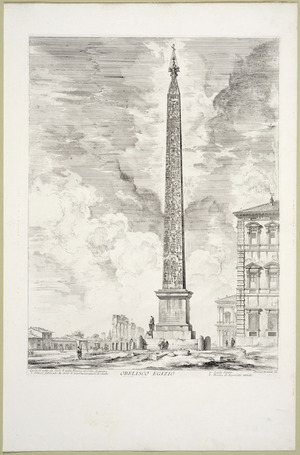 Piranesi, Giovanni Battista, 1720-1778 :Obelisco Egizio. Piranesi Architetto fec[it] [1759]
